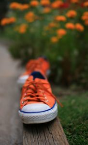orange-shoe